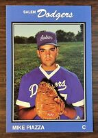 1989 Salem Dodgers #25 MIKE PIAZZA, HOF (RC) Minor League Card.  F6020505