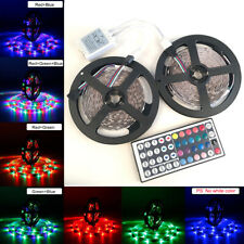 32.8Ft 3528 SMD RGB 600 LED Lighting Strips 44Key Remote Controller for TV, Xmas