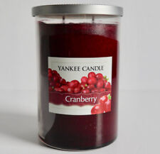 YANKEE CANDLE CRANBERRY DOUBLE WICK PILLAR JAR CANDLE FRAGRANCED RED XMAS *NEW*