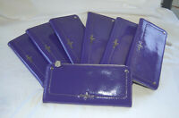 Cole Haan Wallet Parker Colorblock Purple Patent Leather New, stocking stuffer
