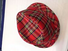 Fedora Tartan Rosso-Cappello Unisex Costume Scozzese Cappello FASHION Headwear Robert