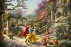 Thomas Kinkade Snow White Dancing in the Sunlight P/P on Paper 18x12