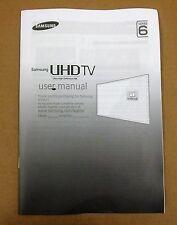 Samsung UHD 4K Genuine TV User Manual Series 6  BN68-07539G - 01 UE40JU6000K etc
