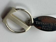 Return to Tiffany & Co Rare T Bar Chain Key Ring 925 Sterling