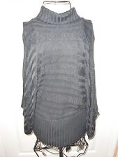 "Women""BELLDINI""Charcoal Turtle Neck Knitted Cotton/Spandex Stretch Sweater sz L"