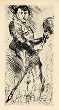 "Lovis Corinth ""Saint George"" original etching"
