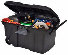 189 L mobile Contico cadenassable de rangement en plastique Tack Outil De Coffre Remorque Box
