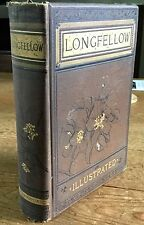 Poems of Henry Wadsworth Longfellow new revised edition 1884 illustrated Boston