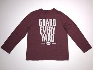 "Place Est 1989 Boys Shirt Sz M 7-8 Long Sleeve Crew ""Guard Every Yard"" Football"
