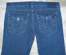 True Religion Joey Bootcut Jeans Mens Sz 42 x 28 w Flap Pocs Run BIG