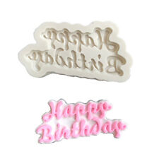 Happy Birthday Silicone Mould Cutter Cupcake Chocolate Cake Toppers Mold 4