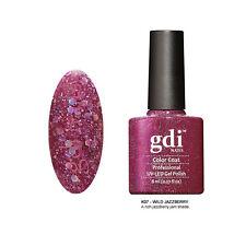 Diamond Glitter Nail GEL Polish by GDI Nails London UV LED Soak 8ml Post K07 - Wild Jazzberry