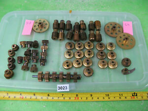vintage meccano brass pinions etc mixed lot construction toy 3023