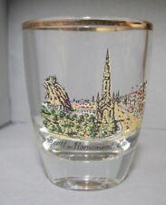 Souvenir Shotglass from Scott Monument in Edinburg, Scotland with Gold Rim
