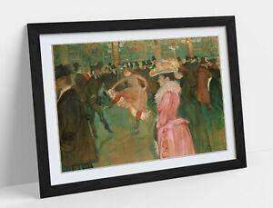 HENRI LAUTREC MOULIN ROUGE -ART FRAMED POSTER PICTURE PRINT ARTWORK- PINK
