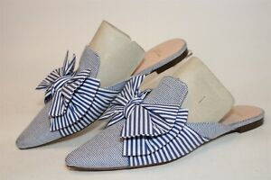 J.CREW Womens Size 8.5 Textile Scuffs Pointed Toe Flat Shoes L0560