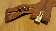 1 × 22'' inch Talon Repro vintage style Metal jacket Zip-Zipper