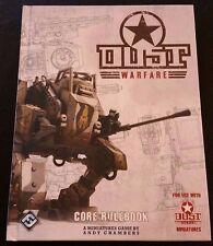 Dust Warfare CORE RULEBOOK 2012 Hardcover DWF01 Fantasy Flight Games Tactics NEW