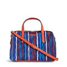 Vera Bradley Preppy Poly Marlo Handbag Crossbody Satchel Cobalt Stripe