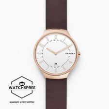 Skagen Men's Grenen Dark Brown Leather Strap Watch SKW6458