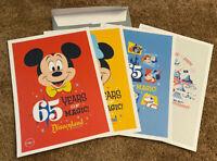 New Disneyland 65th Anniversary Lithograph Set Disney Park Mickey Minnie Castle