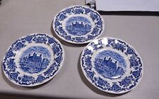 "3 Royal Homes of Britain 3 Dessert Pie Plates  7"" Wedgwood  Mint Condition"