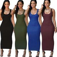 CA Women's Summer Bandage Bodycon Lady Evening Party Cocktail Maxi Long Dress