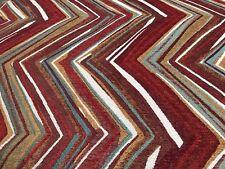 Chenille Chevron Reds Upholstery Fabric 2.5 Yards