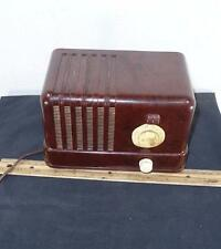 Antique General Electric Bakelite Tube Table Radio Brown H-400 H400 400