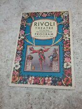 1931 RIVOLI MOVIE THEATRE PROGRAM IN BALTIMORE FEATURING MICKEY MOUSE, FAYE WRAY