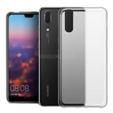 For Huawei P20 Pro Clear Slim Gel Case & Glass Screen Protector