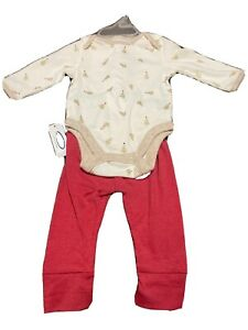 NWT Old Navy Girls Infant Christmas Tree BODYSUIT OUTFIT Holiday Set 18/24 Mon