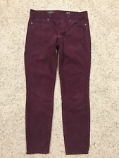 J CREW TOOTHPICK Burgandy Corduroy PANTS size 27 ANKLE  style 03904 CORDS  G7