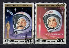 Korea ( North ) 1988 - Mi 2979 / 80   1st Man and Woman in Space.