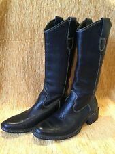 """Womens Born """"Shavano"""" Pebbled Leather Subtle Western Pull On Boots US Size 6"""
