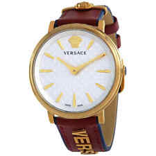 Versace V-Twist Quartz Silver Dial Ladies Watch VE8101319