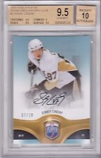 Sidney Crosby 2009-10 Be A Player Parallel Autograph  7/10 SP BGS 9.5/10 POP 1