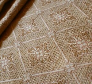 Gold MULTIYORK Heavy Upholstery Cushion WOVEN Fabric Material Remnants Piece