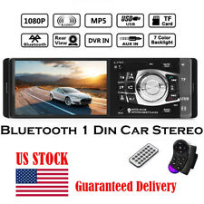 4.1'' Car Stereo Radio Bluetooth MP3/MP5 Player HD Screen FM/USB/TF/EQ Remote