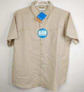 Columbia Sportswear Company Mens Beige XL Brenton Hills Button Up Shirt Outdoor