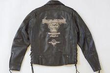 Harley Davidson Mens Legendary Distressed Leather Jacket Skull Lace 97092-06VM M