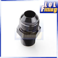 AN4 -4AN To 1/8'' NPT Straight Adapter Pipe Fuel Oil Air Fitting Black