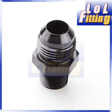 AN4 -4AN to 1/8'' NPT Straight Adapter Pipe Fuel Oil Air Fitting Black Color