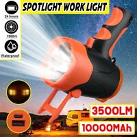 3500LM Powerful LED Flashlight Torch USB Rechargeable Searchlight Waterproof
