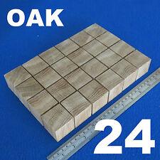 """LOTTO x 24 CUBI 1.6 """" / 40 mm in legno blocchi Bundle Set LEGNO ROVERE NATURALE ECO mattoni"""
