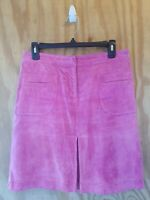 Lilly  Pulitzer Women's A-Line Skirt 100% Pig Suede Pink Color Pockets.Size 4