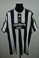 NEWCASTLE UNITED ENGLAND 2009/2010 HOME FOOTBALL SHIRT ADIDAS JERSEY SIZE XXL