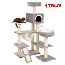 XXL Cat Tree Pet Scratching Post Tower Condo Furniture Snuggle Hammock Den House