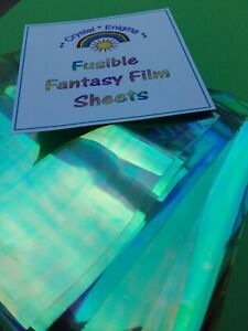 ANGELINA Fusible Film Colourful Sheets Card Making Crafts Dichroic Sewing Green