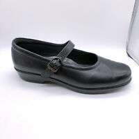 SAS Maria Women's Mary Jane Shoes Black Leather Comfort Nursing Shoes Size 8.5 M
